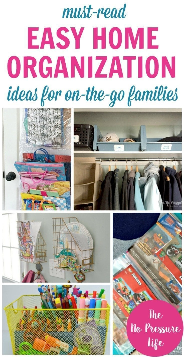 Easy home organization ideas and hacks for busy families
